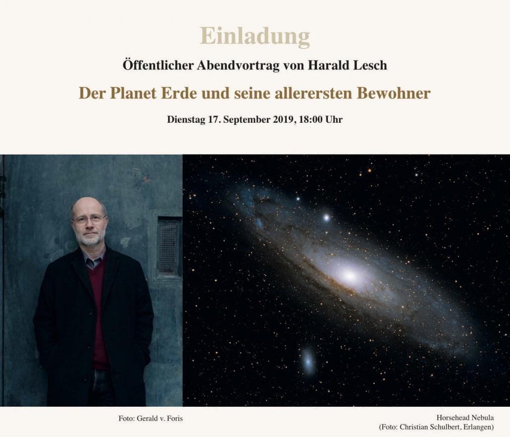 Einladung Harald Lesch
